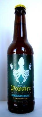 Cerveza Artesana Escuma de mar de Cervesa Popaire. Una cerveza rubia de malta de cebada y estilo Low Summer Ale. Una cerveza muy suave y refrescante. Graduación: 3.5% Una cerveza artesana de Blanes, Girona, Cataluña