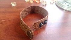 Unisex leather bracelet / natural leather by MyMiracleWorkshop