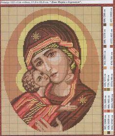 ♥Meus Gráficos De Ponto Cruz♥: Ícones: Nossa Senhora do Perpétuo Socorro em Ponto Cruz