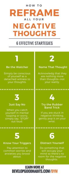 How to reframe negative thoughts..