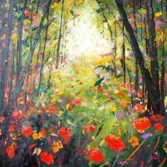 The Magic Forest by Julie Dumbarton. Wonderful bright colours for a nursery