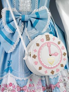 Japanese street style: Sweet Lolita by Baby, The Stars Shine Bright (accessories) Harajuku Fashion, Kawaii Fashion, Lolita Fashion, Cute Fashion, Kawaii Bags, Kawaii Clothes, Visual Kei, Mode Lolita, Novelty Bags