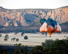 the skywhale hot-air balloon by patricia piccinini