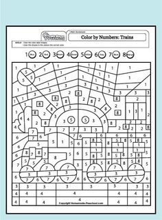 My free preschool math worksheets will help teach counting, numbers, and problem solving in exciting ways! Each is fun to color and full of activity ideas. Shape Coloring Pages, Fall Coloring Pages, Adult Coloring Pages, Coloring Pages For Kids, Color By Numbers, Math Numbers, Color Activities, Math Activities, Teaching Maps