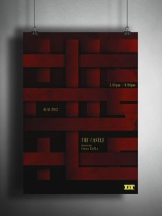 """Check out my @Behance project: """"THE CASTLE - An alternative theatre poster design"""" https://www.behance.net/gallery/47265495/THE-CASTLE-An-alternative-theatre-poster-design"""