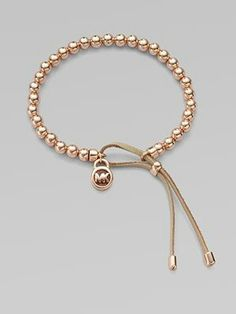 This is a cute alternative to clasps & closures & makes the bracelet adjustable in size!