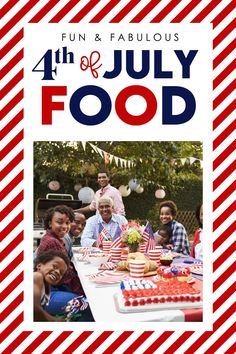 Fun 4th of July Party Foods! Love the red, white, and blue fruit flag cake for dessert!