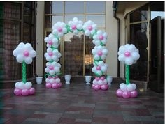 Balloon Entrance Decorations Decoration For Home, Balloon Gate, Balloon Columns, Balloon Flowers, Balloon Bouquet, Ballon Decorations, Birthday Decorations, Balloon Basket, Balloons Galore, Rainbow Balloons