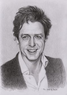 Hugh Grant by thedrawinghands on deviantART ~ pencil portrait