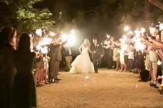 sparklers > throwing rice? which would you like for your wedding? #weddingtraditions #evalinesbridal