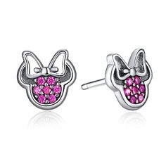 Diamond Earrings   Bamoer 925 Sterling Silver Purple Cubic Zirconia Crystal Stud Earrings for Teen Girls *** Continue to the product at the image link.