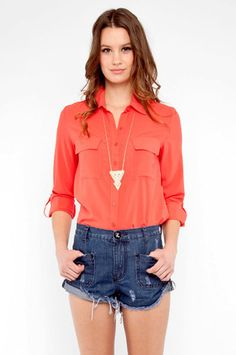 im feeling slouchy button ups and shorts for spring.