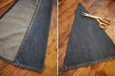 making hippie jeans | Your bell bottoms are finished! You can also try adding fabric like we ...