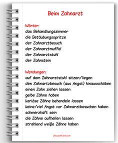 Heute könnt ihr ein paar nützliche Wörter und Wendungen zum Zahnarztbesuch lernen. Wenn ihr ein Wort bzw. eine Wendung nicht versteht, schreibt es/sie in die Kommentare. #Deutsch #German