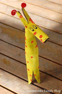 DIY Kids Crafts: Cardboard Giraffe Craft http://formulamom.com/diy-kids-crafts-cardboard-giraffe-craft/