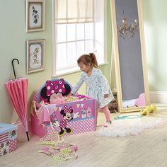 Organizador de juguetes infantil Minnie Mouse. Juguetero Disney ideal para guardar todos sus juguetes. #bainba