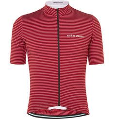 66655b3d7 Cafe du Cycliste - Francine Mid-Weight Striped Cycling Jersey Radsport