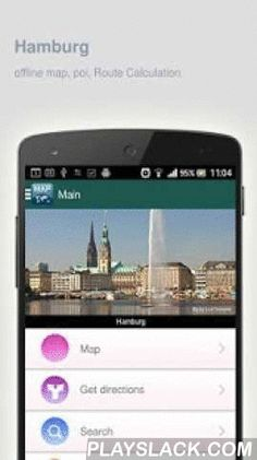 Hamburg Map Offline  Android App - playslack.com ,  Hamburg (Germany) Map offline - is an application that allows you to view online and offline Hamburg map in yourmobile phone. 2 types of maps are attached in application: 1st map: Offline map. You can download it in Wi-fi service area and use without Internet.2nd Map: Online map. Allows you to search for addresses, save points on the map. Map access is free of charge.Application functions are available: 1. Add any objects to your favorites…