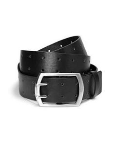Shop online for basic belt with square brushed silver buckle. Find  Accessories and more at Additionelle 9bdcf61653d