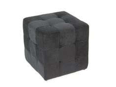 Puf cuadrado color negro. www.actuadecor.com