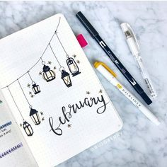 25 Easy Doodle Art Drawing Ideas For Your Bullet Journal - Brighter Craft Bullet Journal School, Bullet Journal Inspo, Minimalist Bullet Journal, February Bullet Journal, Bullet Journal Cover Ideas, Bullet Journal Banner, Bullet Journal Notebook, Bullet Journal Aesthetic, Journal Diary