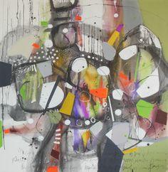 """""""DANZANTES"""" Técnica mixta 145 x 140 cm."""