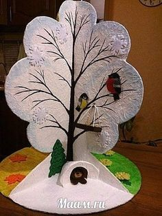 vtáčik na strome Diy Crafts For Kids, Arts And Crafts, Paper Crafts, Art Activities, Four Seasons, Kids And Parenting, Art Lessons, Christmas Crafts, Projects To Try