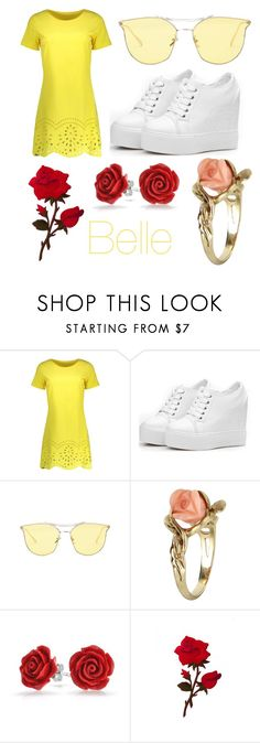 """Belle"" by methebault ❤ liked on Polyvore featuring Vintage and Bling Jewelry"