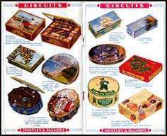 Christmas Tins Sheet, 1937