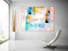Extra Large Wall Art Original Painting on Canvas Contemporary Wallart Modern Abstract Living Room Wall ArtColorful Abstract Painting Large Abstract Wall Art, Canvas Wall Art, Canvas Paintings, Abstract Paintings, Unique Paintings, Original Paintings, Original Art, Texture Art, Texture Painting