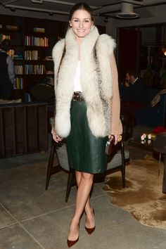 Olivia Palermo At A Fashion Event - Winter Style: See How The A-List Wrap Up Warm