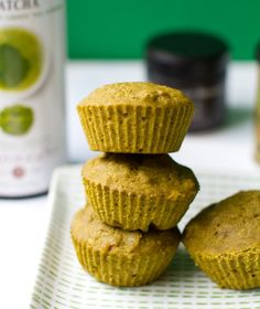 Matcha Morning Muffins recipe - ground green tea leaves that release energy more evenly throughout the day.