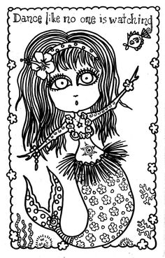 5 Pages Instant Download Mermaid Girls To Color Or Make Into Cards Different Pictures Scrapbooking Digital Stamps Adult Coloring