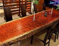 Stunning Live Edge Table Ideas :http://www.wwideas.com/2016/12/stunning-live-edge-table-ideas/
