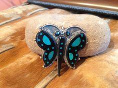 Eldred Martinez Zuni Inlay Butterfly by SpavinawCreekGallery