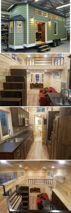 This is basically our layout!!!! And roof angle!The Cado tiny house (300 sq ft)