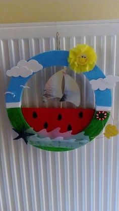 Summer Crafts For Kids, Craft Projects For Kids, Diy For Kids, Projects To Try, Summer Fun, Boat Crafts, Paper Roll Crafts, Art N Craft, Toddler Art