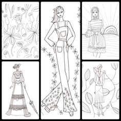 New York Fashion, Fashion Art, Adult Coloring, Coloring Books, To Color, Live Events, Present Day, Custom Art, Colorful Fashion