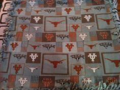 UT Fleece Blanket by TwoHeartsbyAmanda on Etsy, $35.00