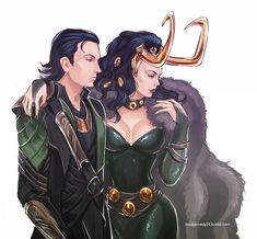 The Avengers - Loki x Lady Loki by ~maXKennedy on deviantART
