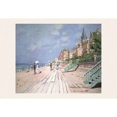Buyenlarge 'The Boardwalk at Trouville' by Claude Monet Painting Print
