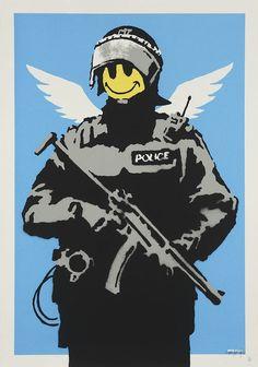 Banksy (b. 1974, England) | Flying Copper, 2004