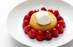 Soaked savarin with Scottish raspberries by William Drabble