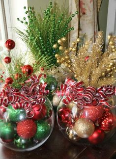 40 Christmas Decorating Ideas That Will Bring Joy To Your Home     Christmas Centerpiece  Set of Four  Christmas Centerpieces  Corporate holiday  party  Corporate christmas party centerpieces