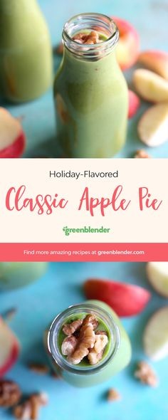 """Nothing says """"holiday season"""" quite like pie, and this smoothie has all the flavor of a delicious apple pie without any of the refined sugaror unhealthy fat"""