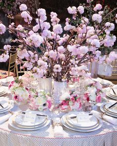 A Holiday, a Celebration, a Party!  Cherry blossoms. Interior Design: Nicole Gibbons for STARK.