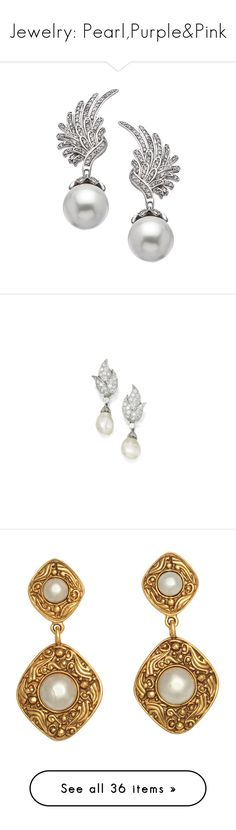 """""""Jewelry: Pearl,Purple&Pink"""" by neonumenoriel ❤ liked on Polyvore featuring jewelry, earrings, accessories, pearl drop earrings, silver cubic zirconia earrings, silver dangle earrings, silver pearl earrings, silver earrings, freshwater pearl pendant and cultured pearl pendant"""