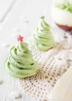 Christmas Baking and Festive Treats - meringue trees