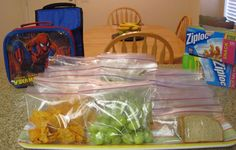 How to make your very own cheap lunch packs for your child. Much better and more organized.