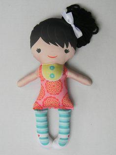 Organic Eco friendly soft handmade doll MIA by mumsnposies on Etsy